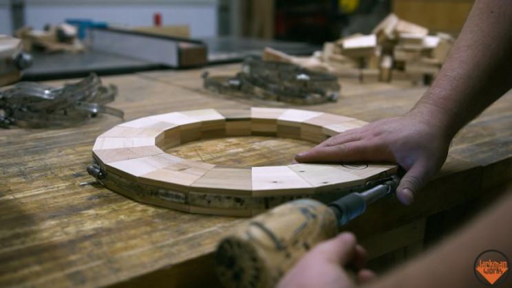 wooden vase rings