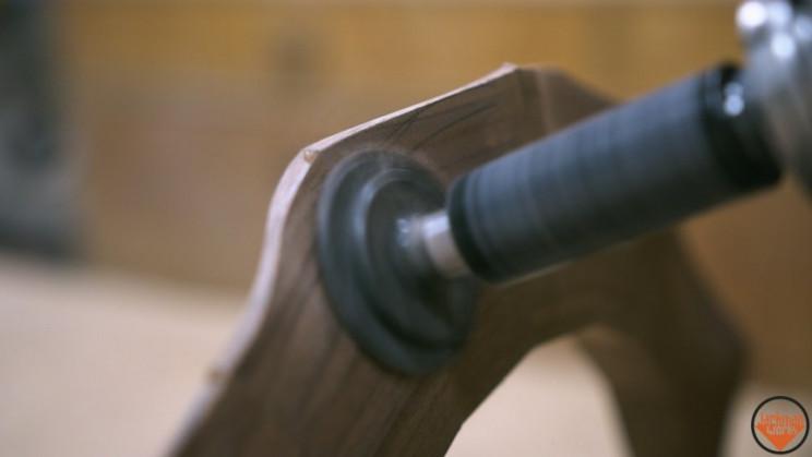 wooden vase sanding