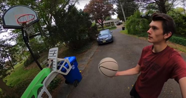 basketball trick shot start
