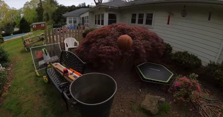 Rube Goldberg Machine trampolines