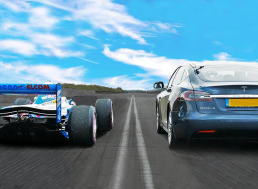 Tesla Model S vs. 770 HP Formula 1 Car: See Who Wins