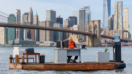 NYC's Most Socially Distanced Office Sails in the East River