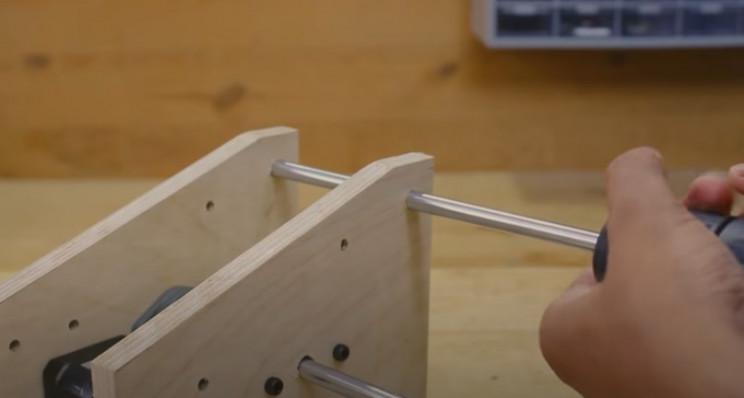 arduino label dispenser 2nd rod