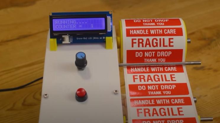 arduino label dispenser complete
