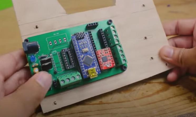 diy arduino label dispenser affix pcb