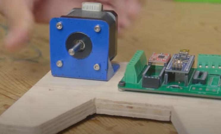 arduino label dispenser stepper motor