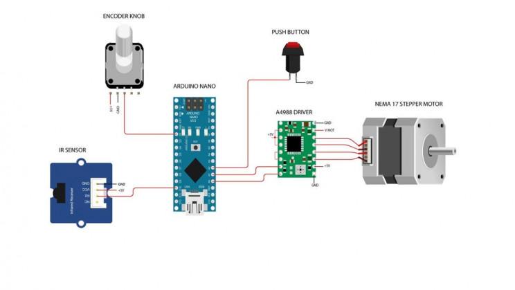 diy arduino label dispenser circuits