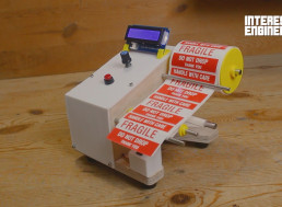 Build Your Own Arduino-Based Automatic Label Dispenser Machine