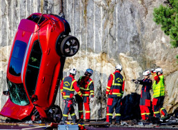 Volvo Drops a Bunch of Cars From 100 FT to Help Rescue Services