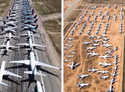 Man Flies Over Where The Airlines Parked All of Their Jets Amid The Pandemic