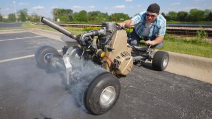 Watch This Turbo Diesel Go-Kart Do a High-Speed Run