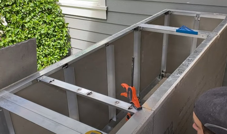 outdoor diy grill supports
