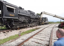 Watch a Team Rerail a Huge 200-Ton Steam Locomotive