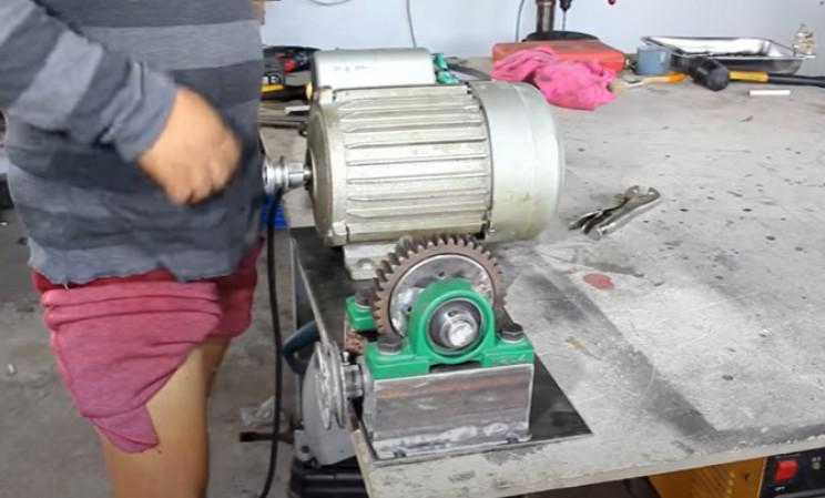 diy hoist motor and winch