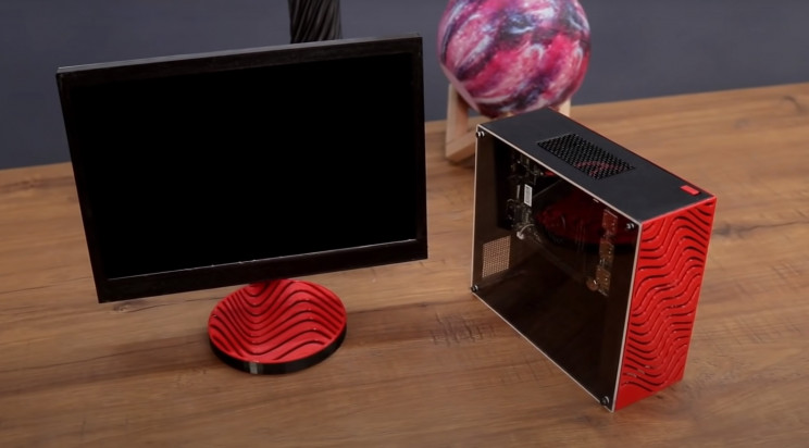 tiny pc monitor and tower