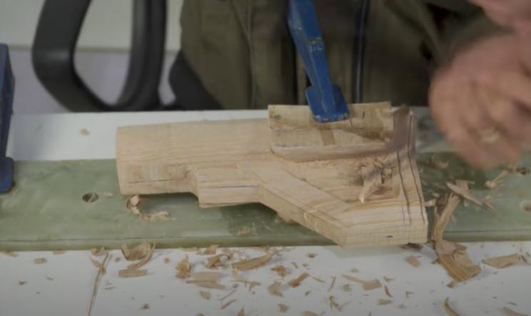 diy wooden sniper rifle reverse stock