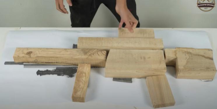 diy wooden sniper rifle mock up