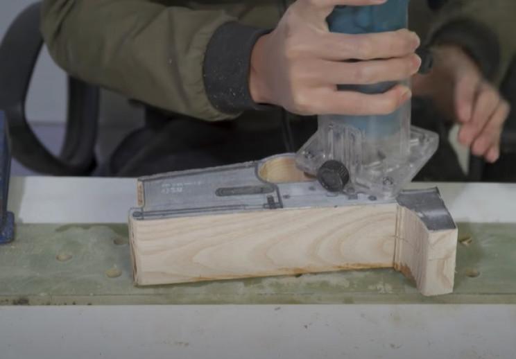 diy wooden sniper rifle route firing mech