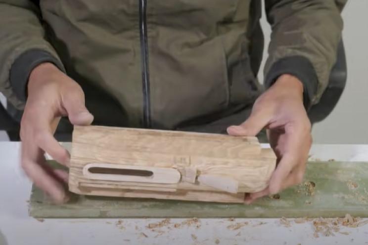 diy wooden sniper rifle scope carve