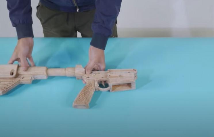 diy wooden rifle attach stock