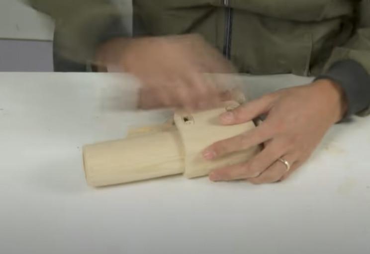 diy wooden sniper rifle sandpaper stock