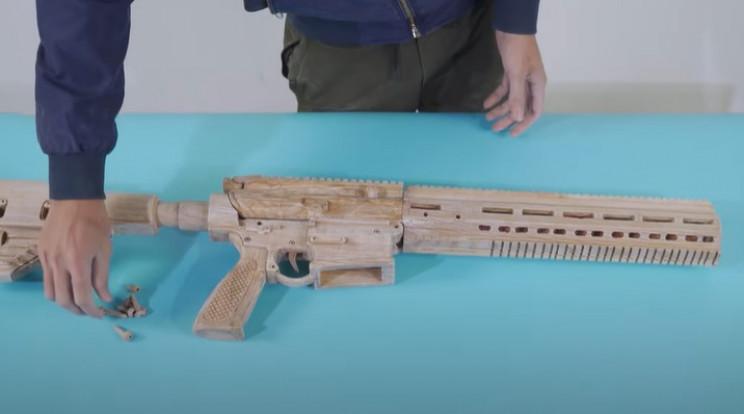 diy wooden sniper rifle wooden bolts