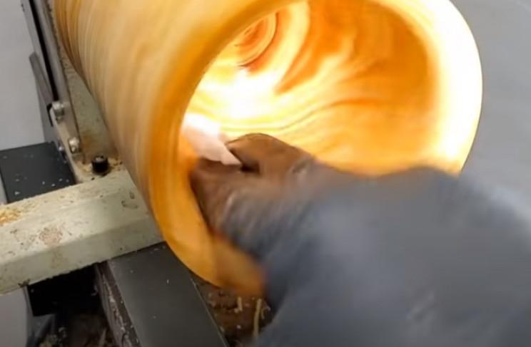diy pine goblet clean inside