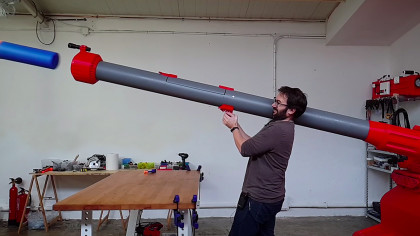 YouTuber Builds Massive Nerf Bazooka Fit For Overgrown Kids