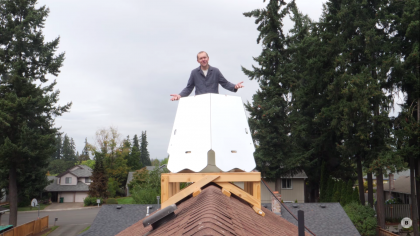 A DIY Man Stored Solar Power on His Roof. With a Water Battery?