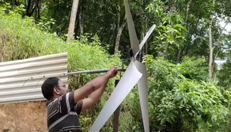 diy wind turbine attach rudder