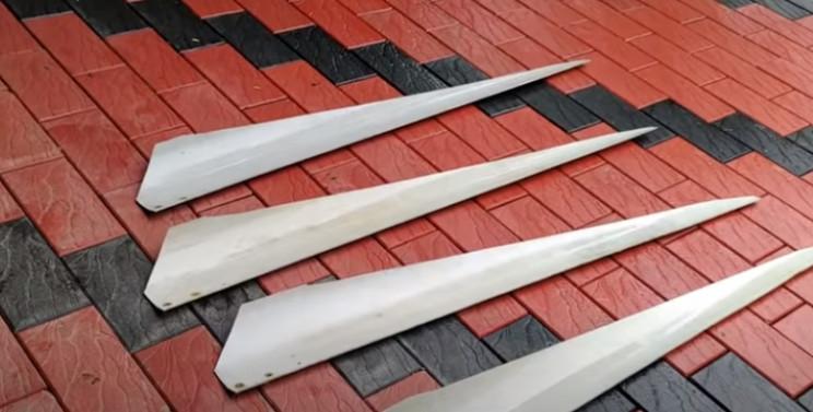 diy wind turbine make blades