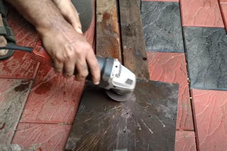 diy wind turbine clean drill holes