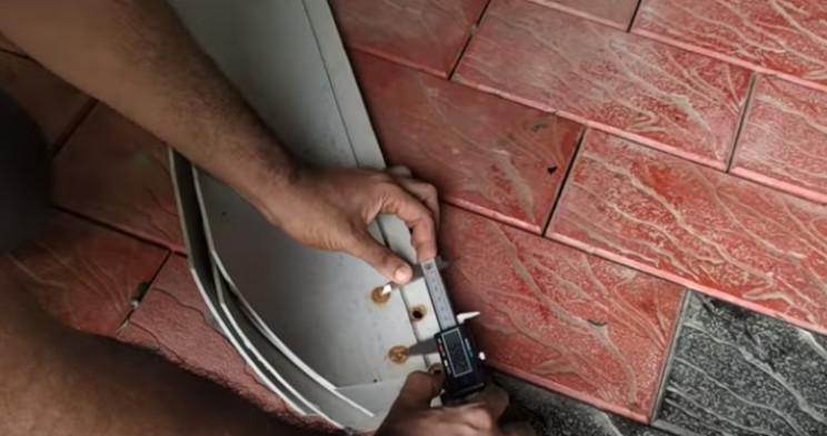 diy wind turbine blade bolt holes