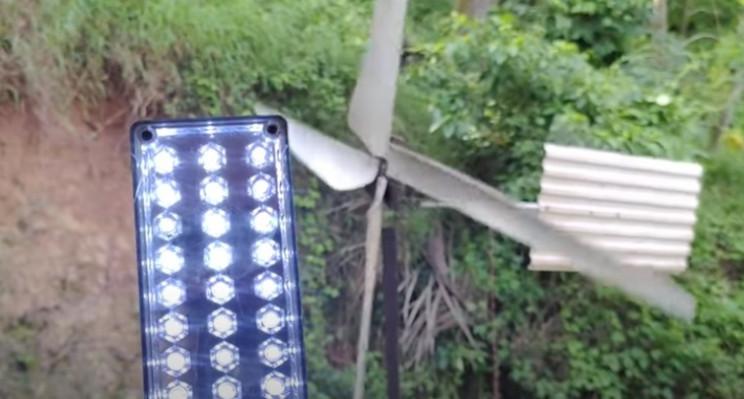 diy wind turbine test turbine