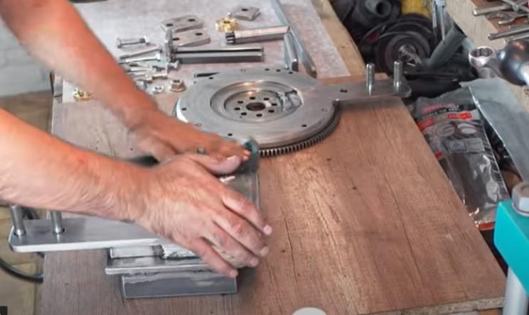 diy metal bender machine clean parts