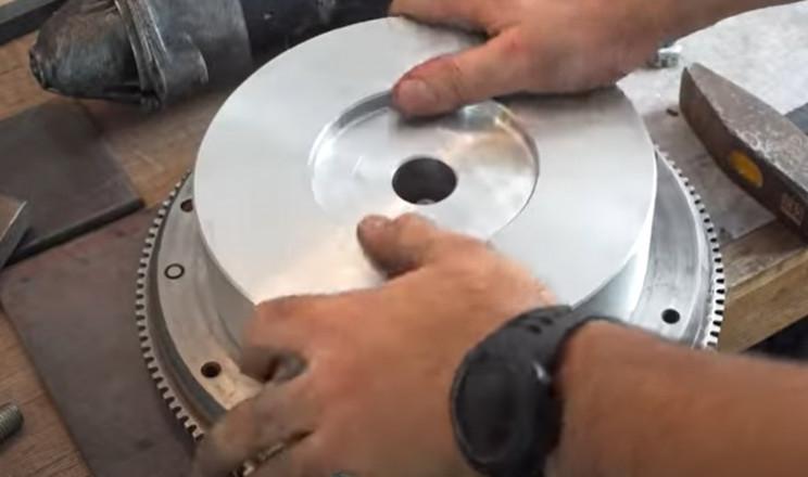diy metal bender gear flywheel