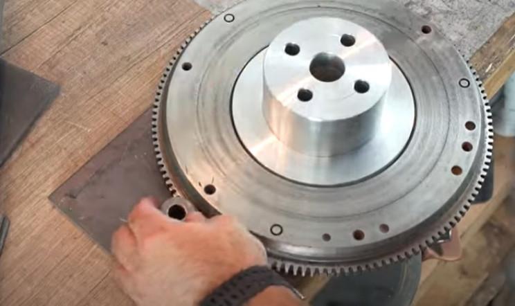 diy metal bender gears on plate