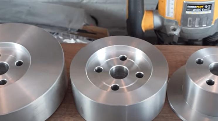diy metal bender drill holes metal disks