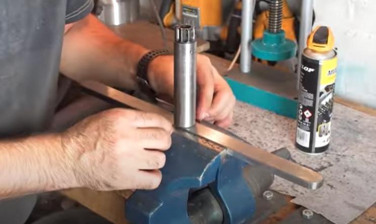 diy metal bender shaft to bar