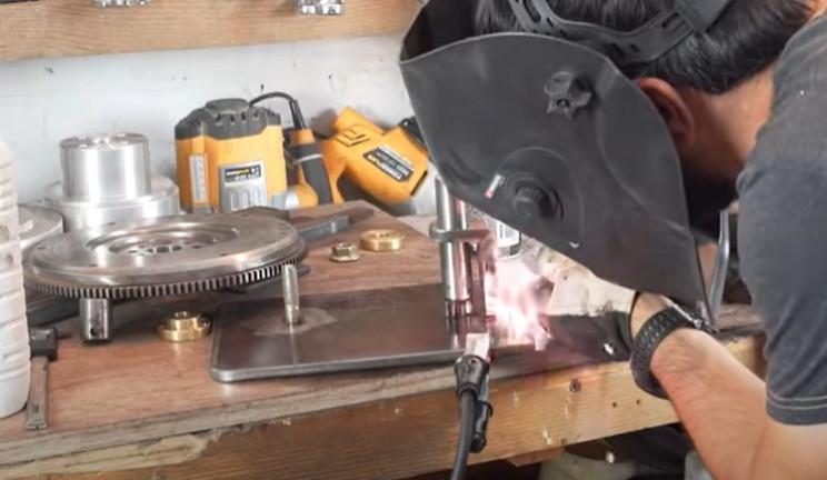diy metal bender shaft support weld