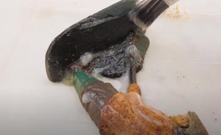 diy vintage golfer remove paint