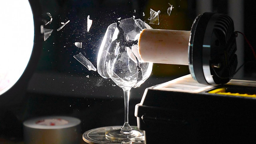 Watch a Wine Glass Shatter with Just Sound in Slow Motion