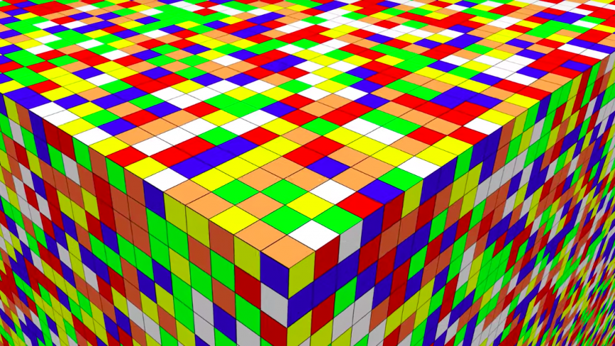 Watch as a Computer Solves a 32,768x32,768 Rubik's Cube in 2,706 Hours