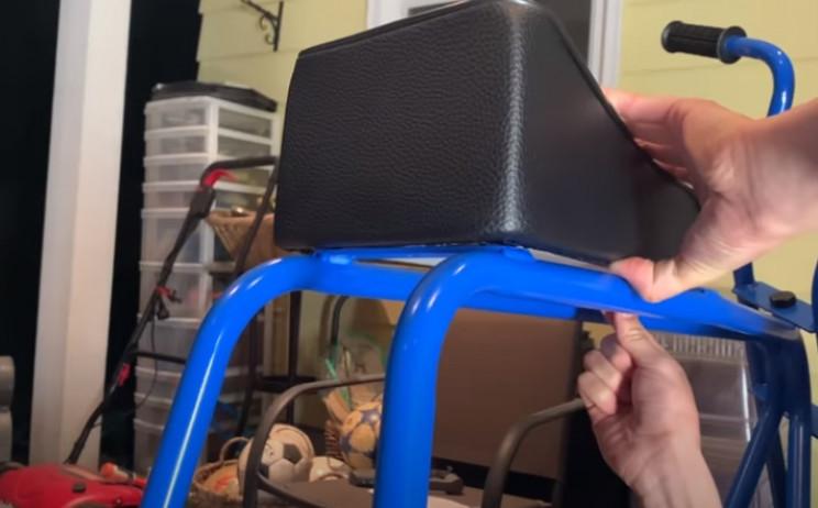 diy mini elec bike saddle
