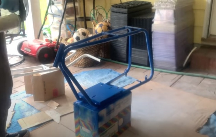 diy elec mini bike frame