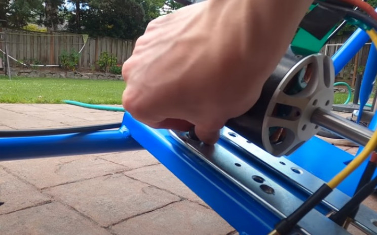 diy mini elec bike mount motor