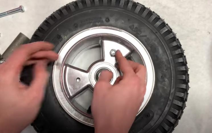 diy mini elc bike tire hubs