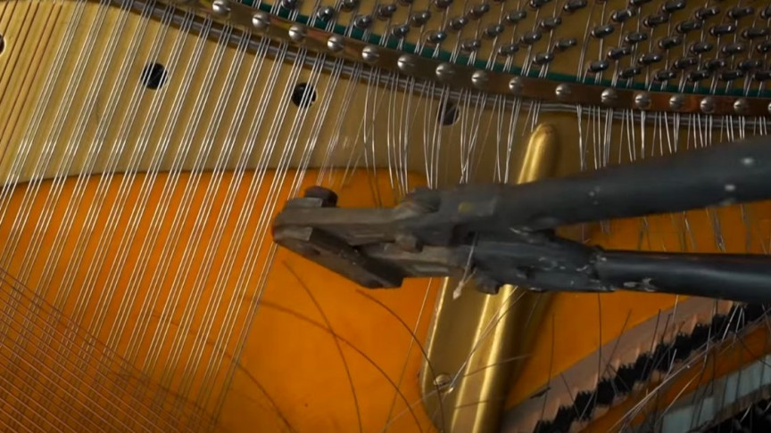 YouTuber Swaps Out Piano Wires With Acoustic Guitar Strings