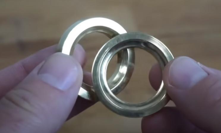 spirit level restore brass rings