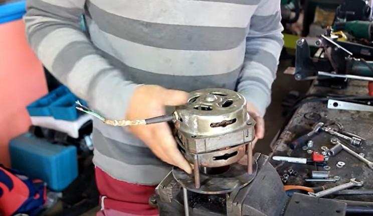 washing machine to fan motor to disc